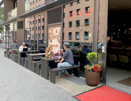 Der Sommer ist da im ama  Café Berlin Mitte