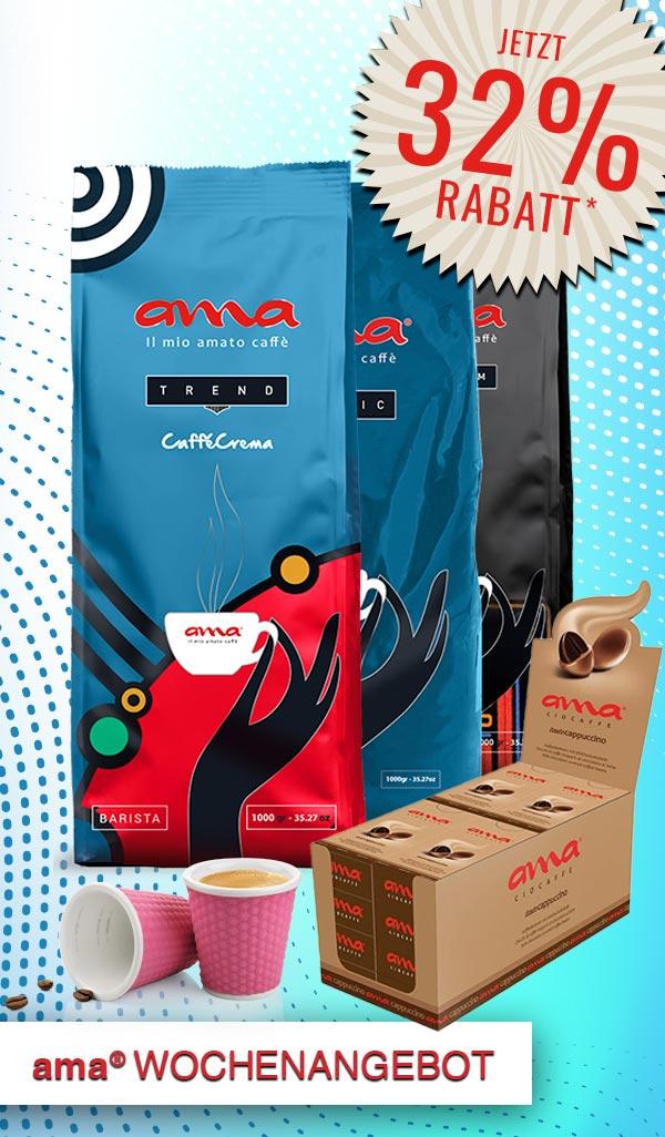 ama® Angebot der Woche. Für echte Kaffeeliebhaber und Genießer!