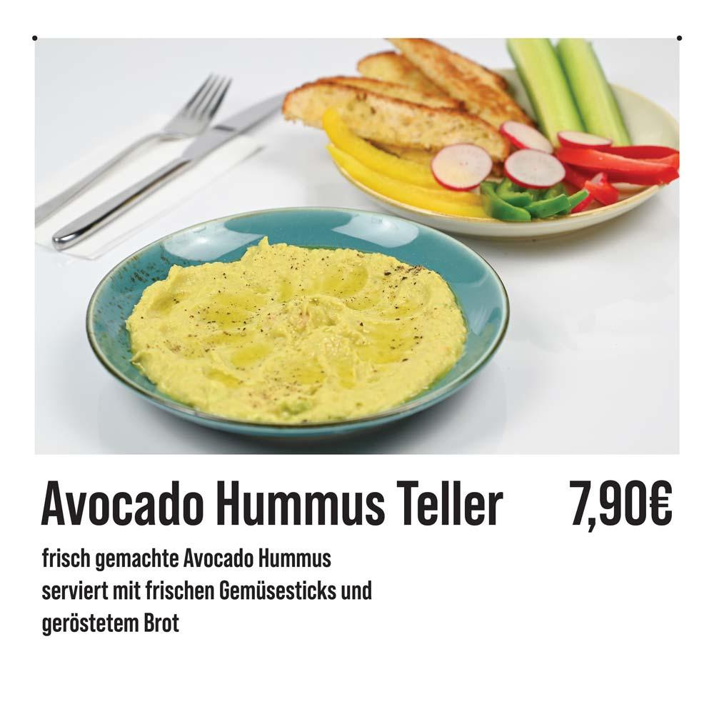 Avocado Hummus Teller