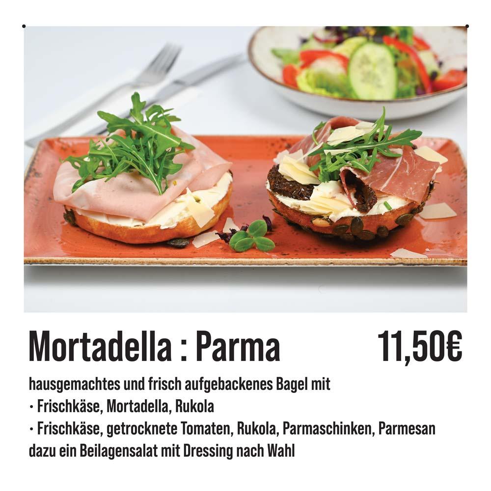 Bagels-Mortadella-Parmaschinken