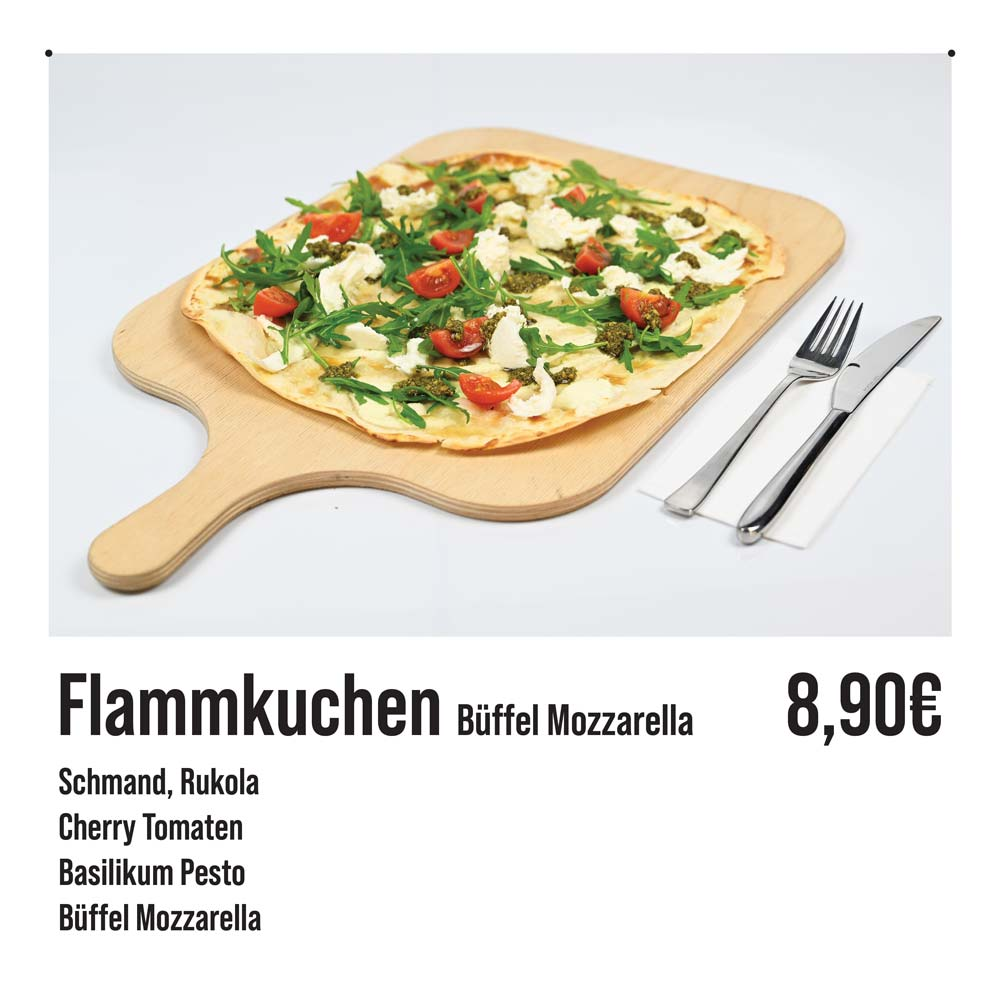 Flammkuchen-Büffelmozzarella